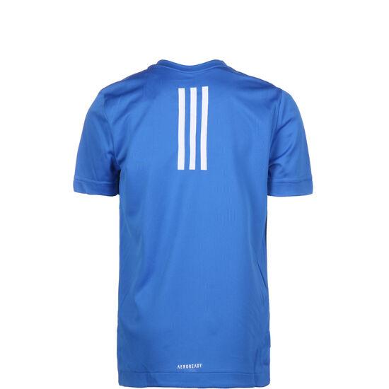 V1 Trainingsshirt Kinder, blau / dunkelblau, zoom bei OUTFITTER Online