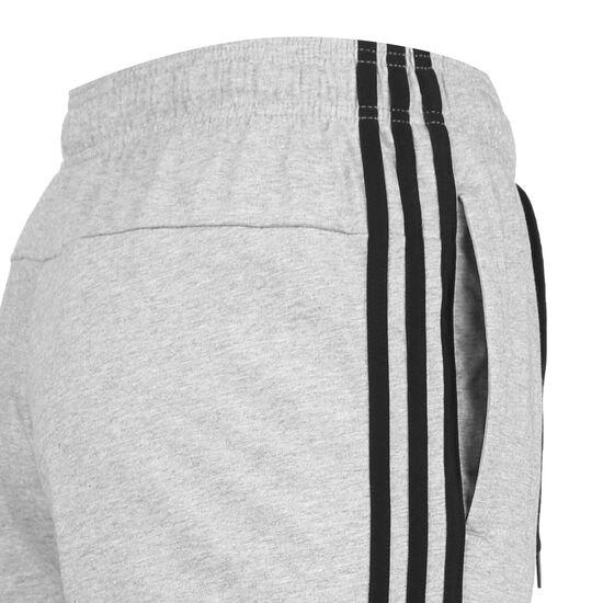 Essentials 3-Streifen Tapered Trainingshose Herren, grau / schwarz, zoom bei OUTFITTER Online