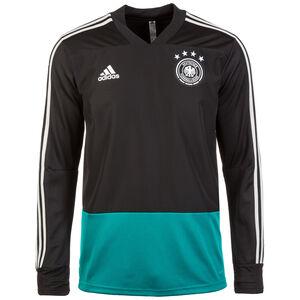 DFB Trainingspullover Herren, schwarz / türkis, zoom bei OUTFITTER Online