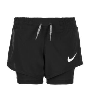 Dry 2 in 1 Trainingsshort Kinder, Schwarz, zoom bei OUTFITTER Online