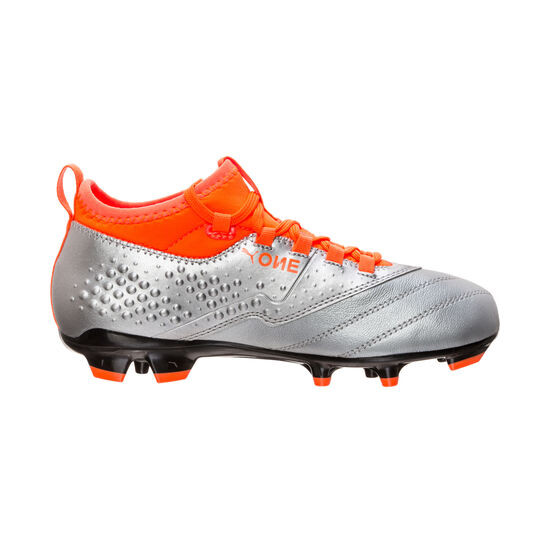 ONE 3 Leather AG Fußballschuh Kinder, Silber, zoom bei OUTFITTER Online