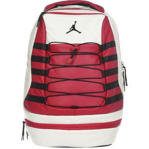 Retro 10 Basketballrucksack, rot / weiß, zoom bei OUTFITTER Online
