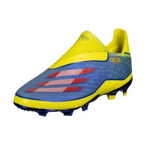 X Ghosted+ FG Fußballschuh Kinder, blau / gelb, zoom bei OUTFITTER Online