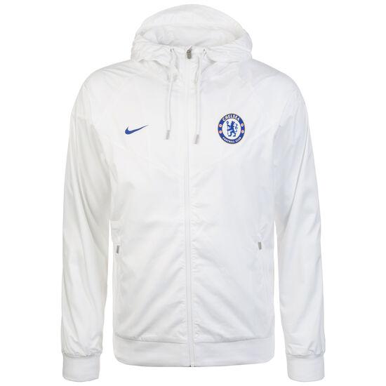 FC Chelsea Windrunner Kapuzenjacke Herren, weiß / blau, zoom bei OUTFITTER Online