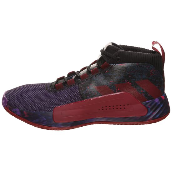 Dame 5 Basketballschuhe Herren, schwarz / rot, zoom bei OUTFITTER Online