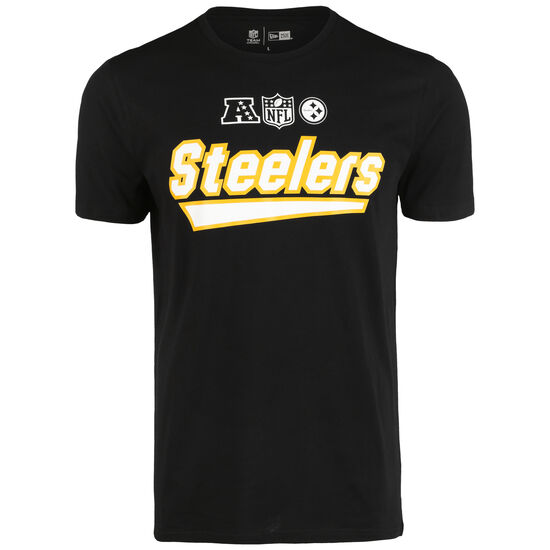 NFL Wordmark Pittsburgh Steelers T-Shirt Herren, schwarz / gold, zoom bei OUTFITTER Online