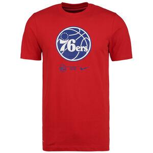 NBA Philadelphia 76ers Dry Logo T-Shirt Herren, rot / blau, zoom bei OUTFITTER Online