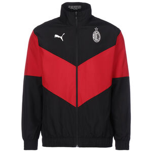 AC Mailand Pre-Match Trainingsjacke Herren, schwarz / rot, zoom bei OUTFITTER Online