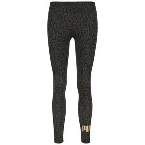 Essential AOP Leggings Damen, schwarz / gold, zoom bei OUTFITTER Online