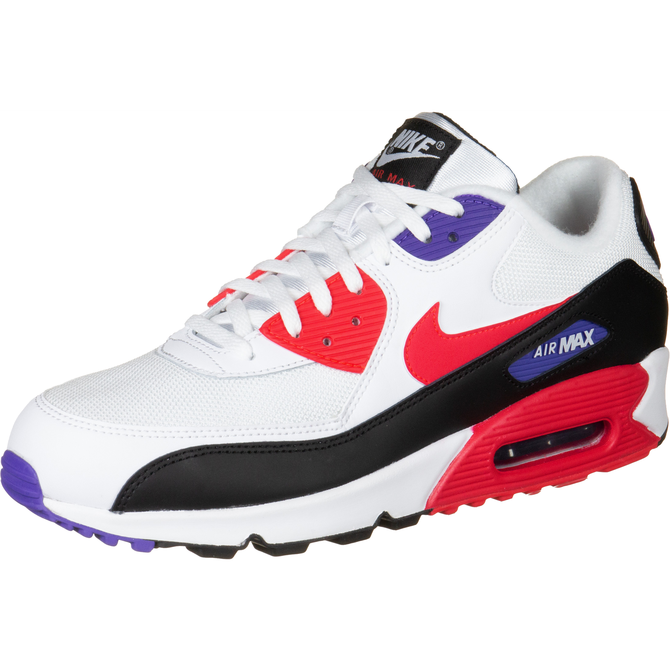 new style 43e43 e2daa Nike Air Max 90 Essential White/ Red Orbit-Psychic Purple-Black