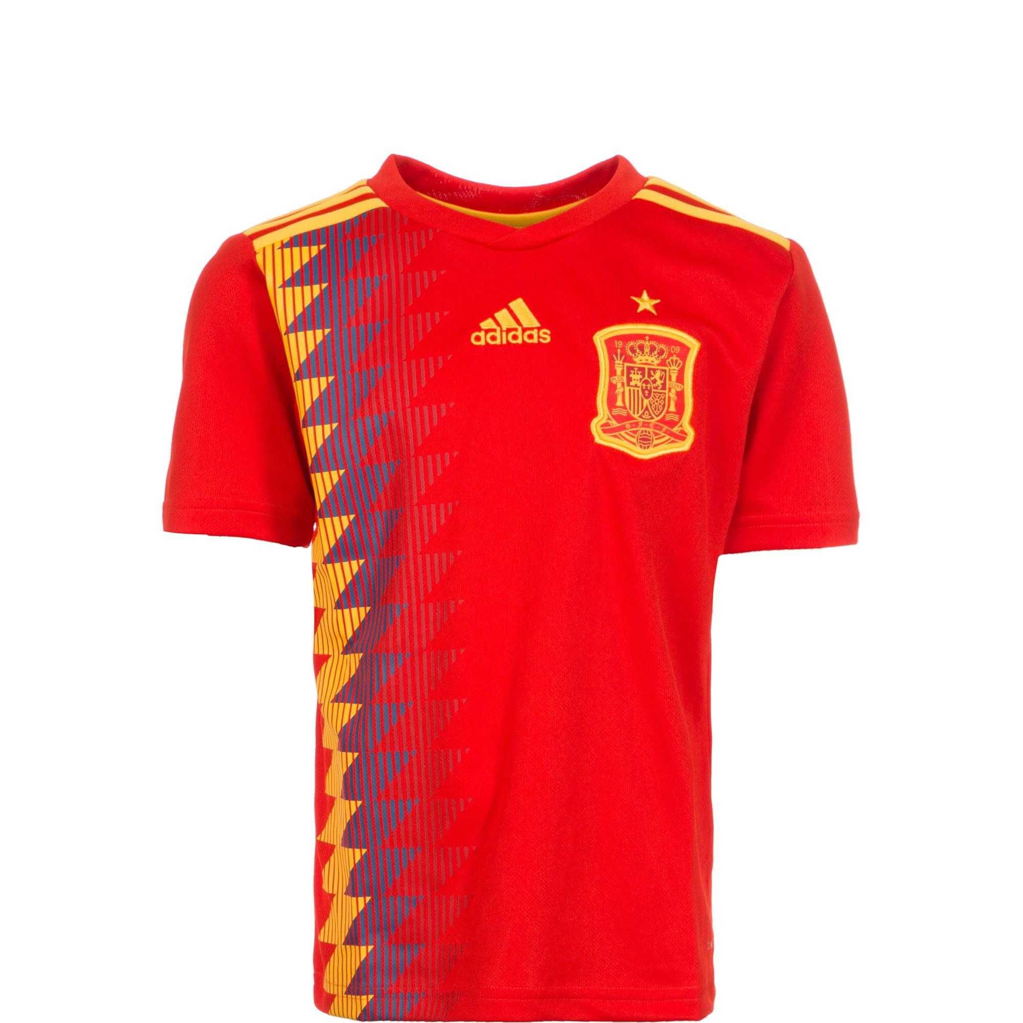 virtud anunciar Trastornado  adidas Spain Kids SS Home Shirt 2018 | BR2713 | FOOTY.COM