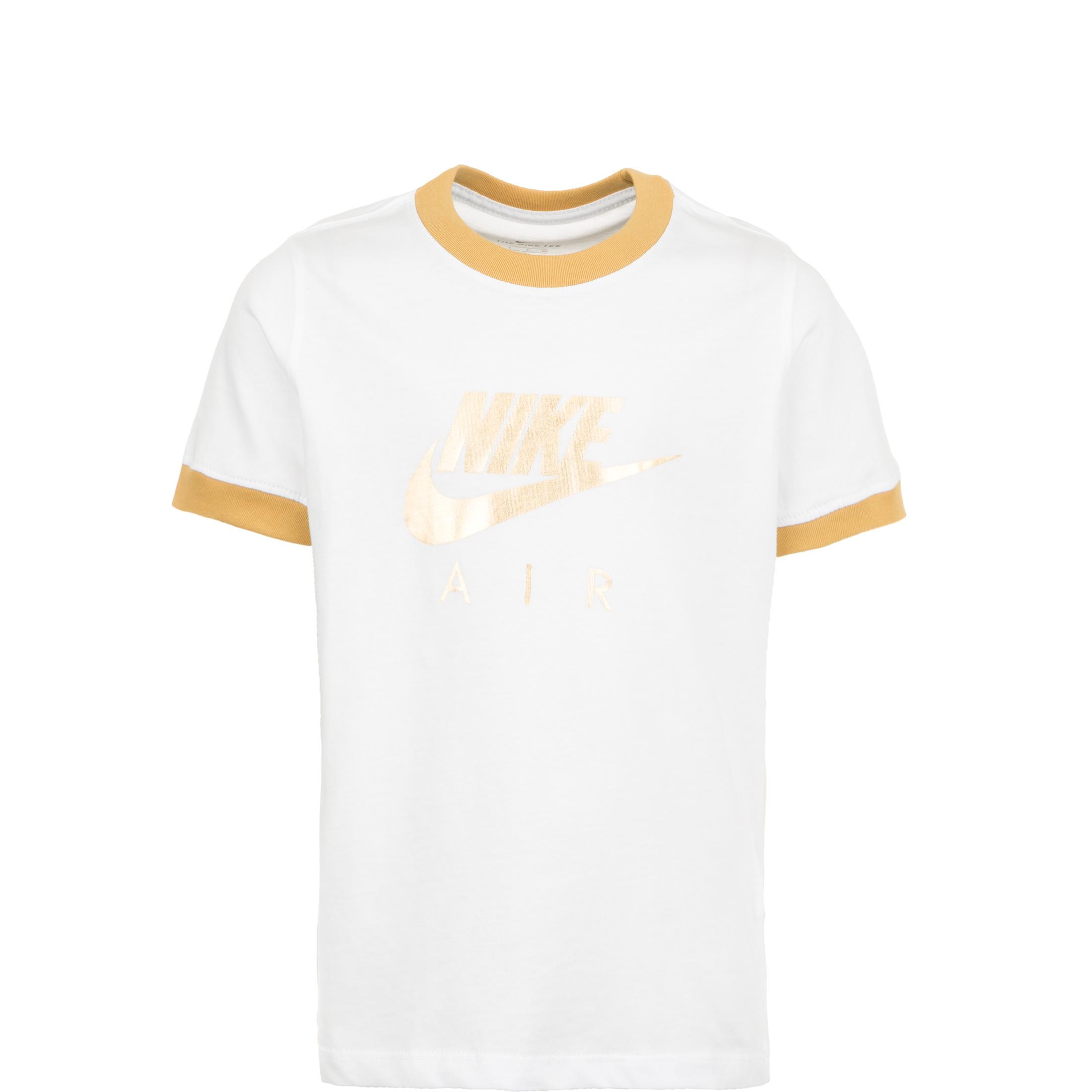 Nike Air T Shirt für ältere Kinder whitemetallic gold CI8325 101