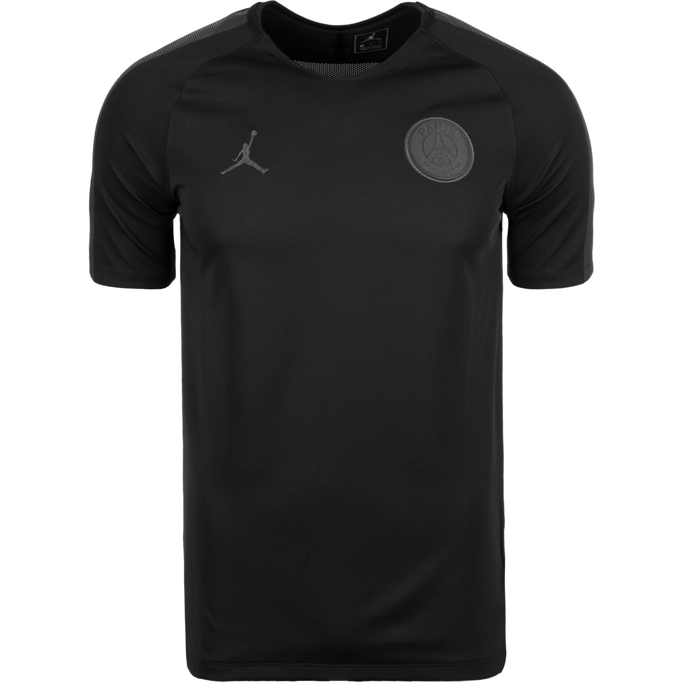 3b2ac1defb95 Nike Paris Saint-Germain Dri-FIT Breathe Squad Men s Short-Sleeve Football  Top - Black Jordan x PSG