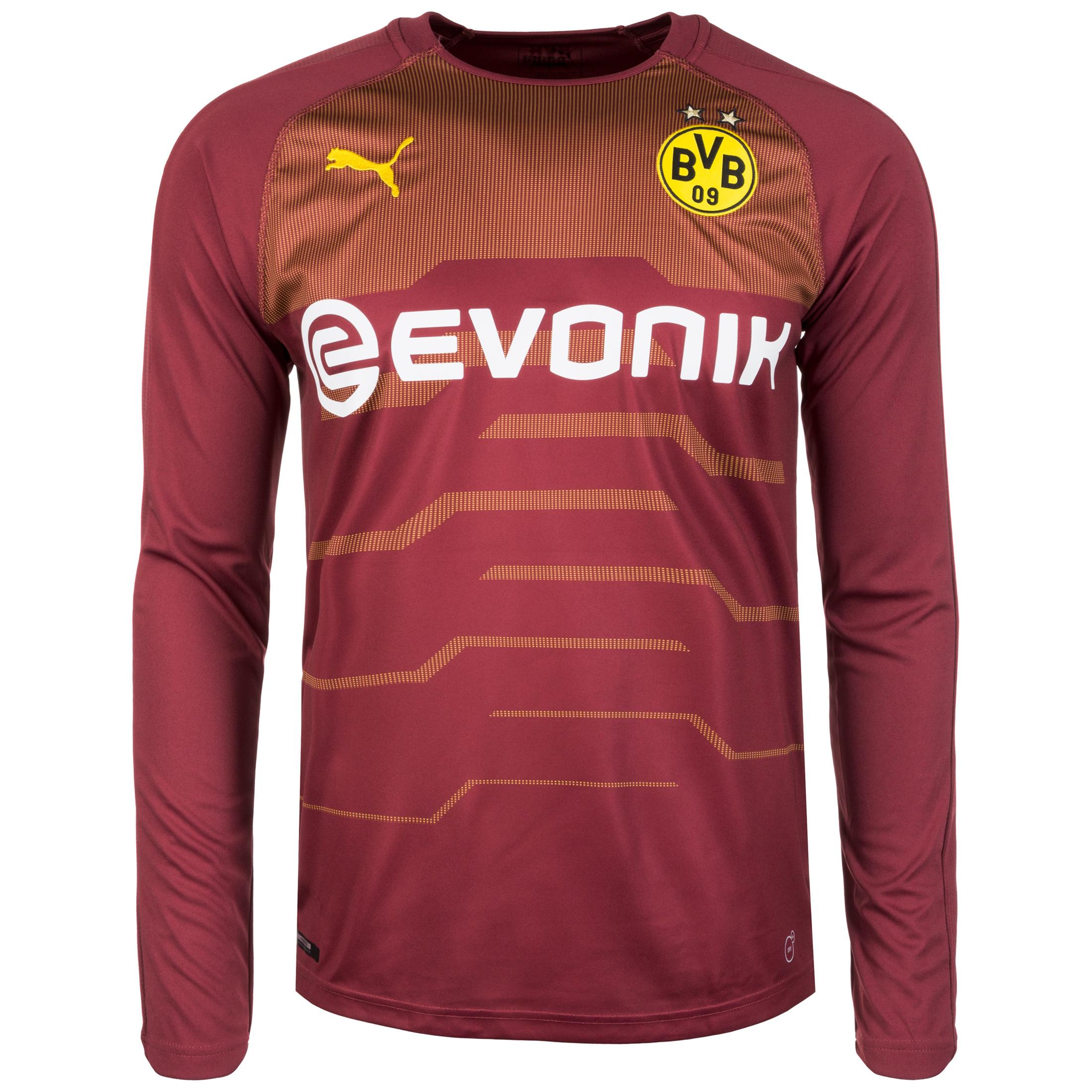 7b91c612303 Puma Borussia Dortmund Mens LS Goalkeeper Home Shirt 2018/19   753326_03    FOOTY.COM
