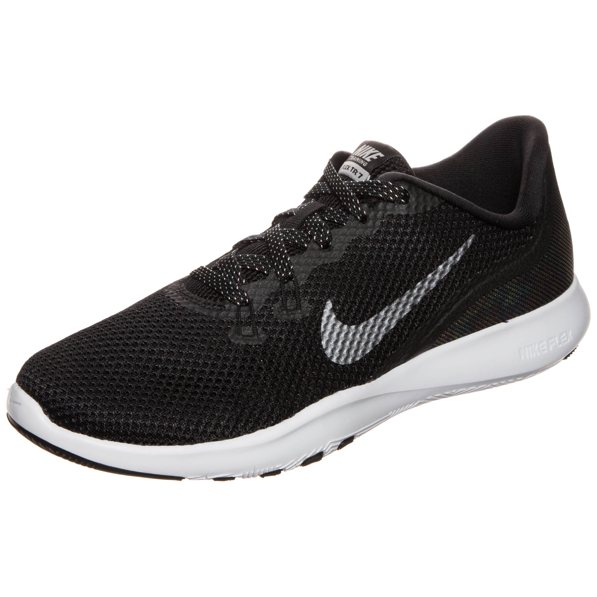 8120a8c6e7ef Nike FLEX TRAINER 7 METALLIC W women s Trainers in Black Image