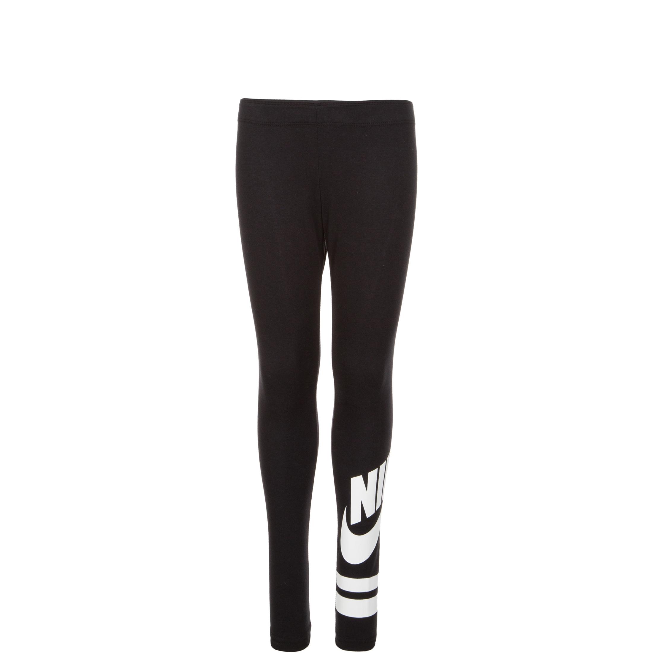 new style 59b85 52370 Nike Sportswear Older Kids  (Girls ) Graphic Leggings - Black   939447-010    FOOTY.COM