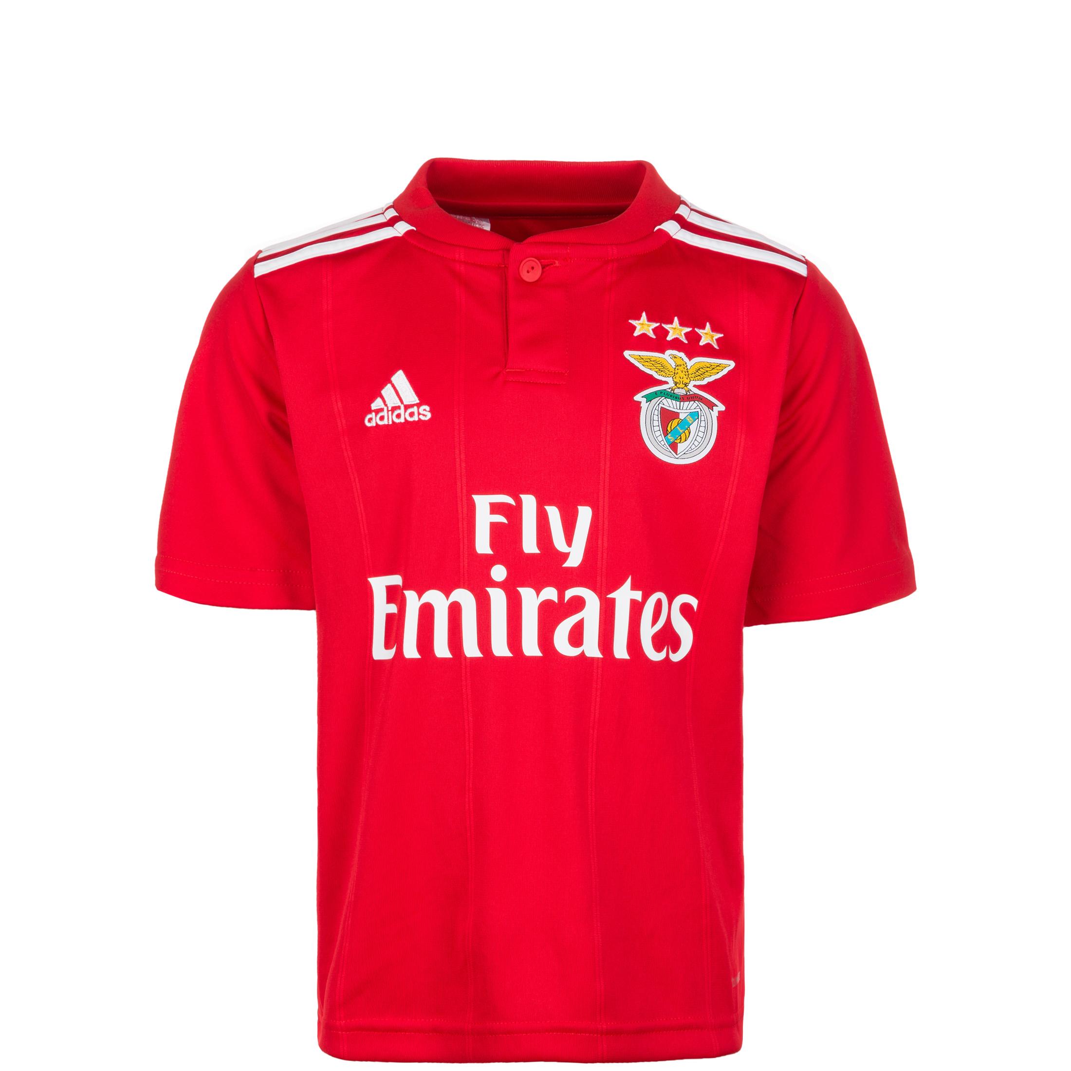 save off 07287 b53f7 adidas Benfica Kids SS Home Shirt 2018/19