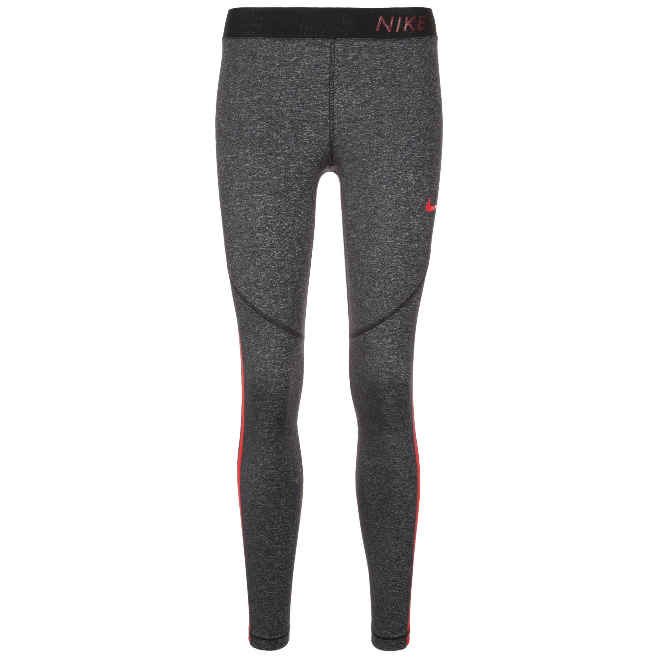 e322ef21addd8e Nike Pro Hypercool Tights - Heather Black/Red Women   941648-011   FOOTY.COM